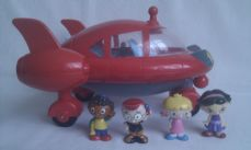 Rare Big Disney 'Little Einsteins' Pat Pat Rocket Lights up, Sounds + 4 Characters